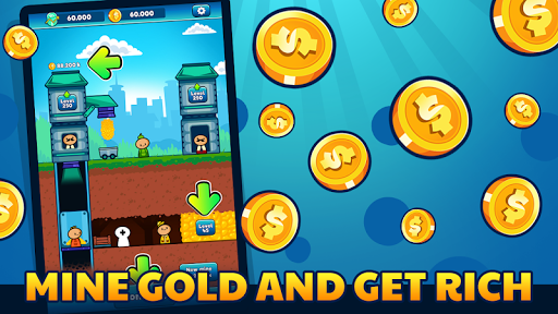 Gold Mine Idle Clicker: Mining Gold Game. Tycoon 1.2.2 screenshots 2