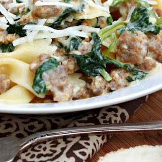 Pasta with Spicy Sausage & Rapini