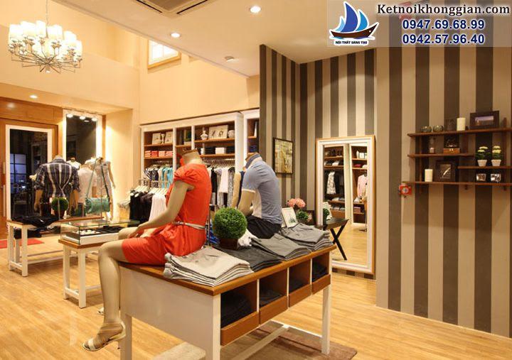 thiết kế shop thời trang Arrow với phụ kiện trang trí