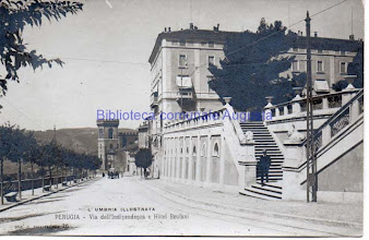 Photo: Perugia, Via dell'Indipendenza e Hotel Brufani