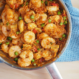 Spanish Inspired Prawns (Shrimp) with Risoni