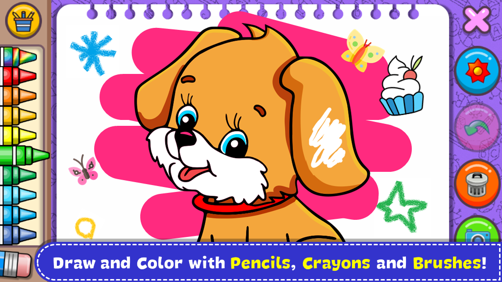 Coloring & Learn Animals - Kids Games