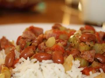Red Beans and Rice (Cajun Style)