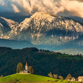 Pogled proti Kamniškim alpam. by Milan Mihalič - Landscapes Mountains & Hills (  )