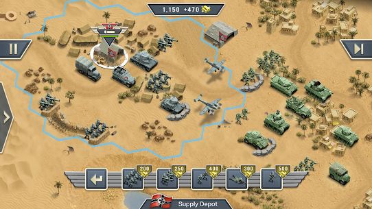 1943 Deadly Desert – a WW2 Strategy War Game Apk Download For Android and Iphone 7