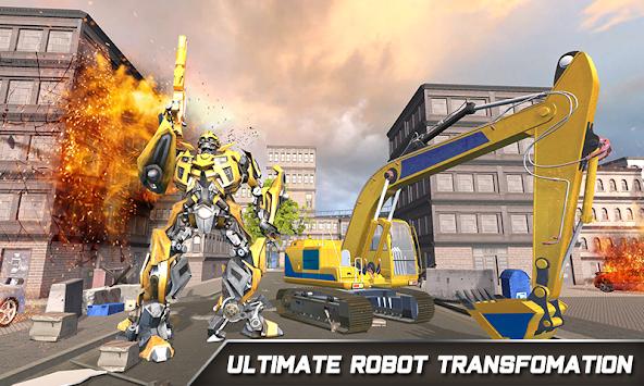 Grand Excavator Robot Transforming City Fighter 3D apk screenshot