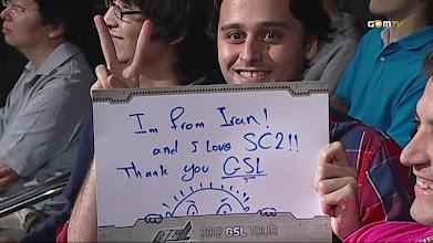 Photo: 난 이란 사람이고, GSL 스타2를 보고 있지!