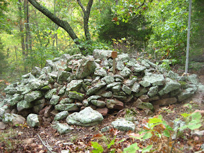 Photo: Largest cairn, #6, viewed looking downhill, South