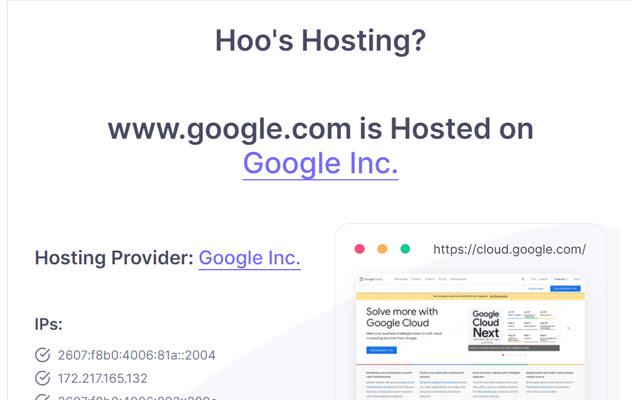 Hoo's Hosting - Web Hosting Detector