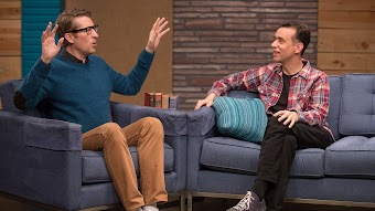 Fred Armisen Wears Black Jeans and Glasses