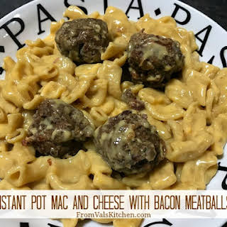 Instant Pot Mac And Cheese With Bacon Meatballs #Recipe.