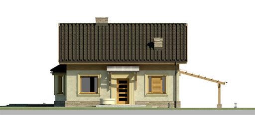Dom przy Imbirowej 2 - Elewacja przednia