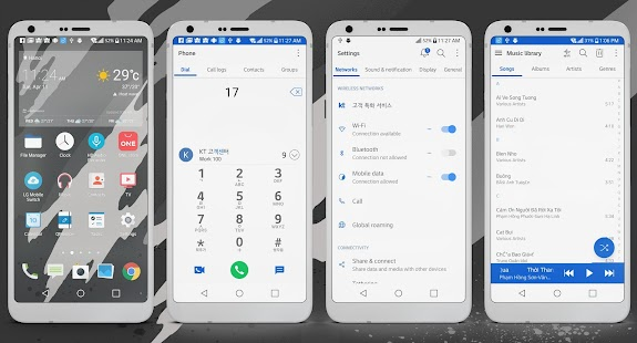 Sense Pro Theme LG G6 V20 & G5 Screenshot