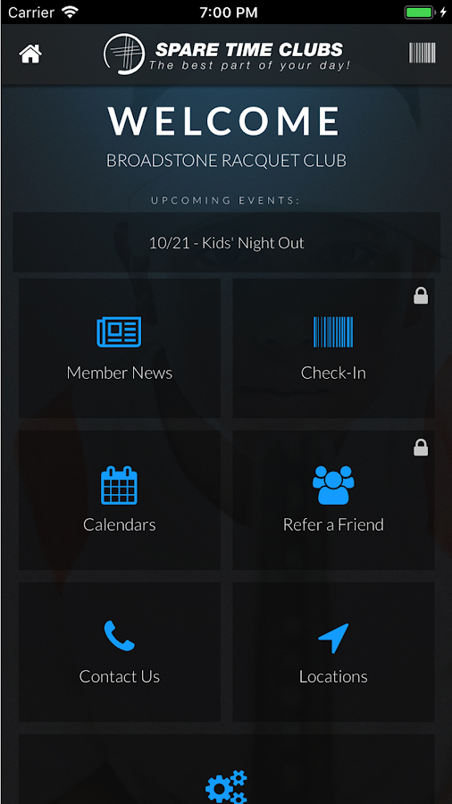 Spare Time Clubs Mobile App- screenshot