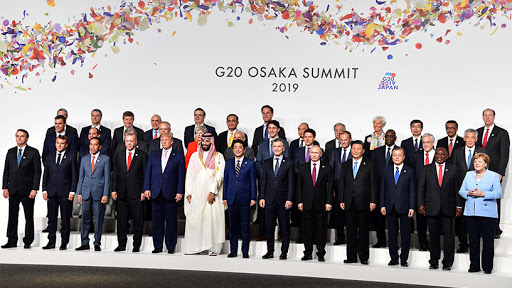 World leaders at the 2019 G20 Summit held in Osaka, Japan.