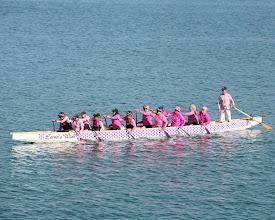 Photo: Dragons Abreast Mackay enjoying their Sunday morning paddle at Mackay Marina