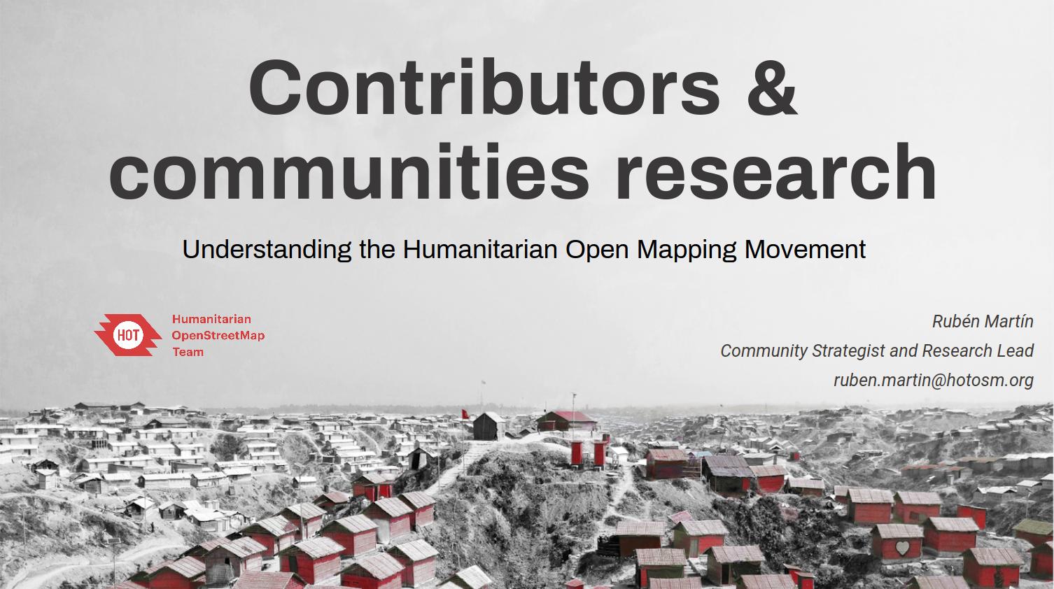 Entendiendo el movimiento de Open Mapping Humanitario