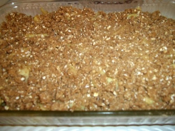 Sprinkle evenly over apples and place in oven. Bake for 30 minutes, or until...
