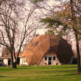 Round House by Debra Summers - Buildings & Architecture Other Exteriors ( grass, house, trees )