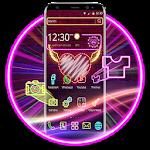 Neon Love Heart Light Theme Icon