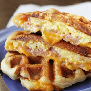 Ham, Egg, and Cheese Biscuit Wafflewiches.