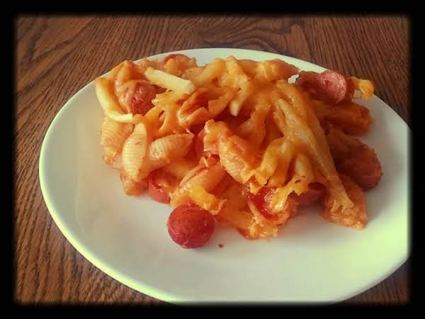Hot Dog And Fries Mac And Cheese Casserole Recipe