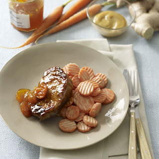 Apricot-Glazed Pork Chops with Honey-Mustard Carrots Recipe