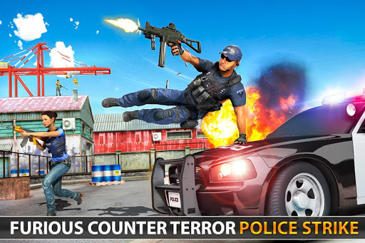 Police Counter Terrorist Shooting - FPS Strike War apkpoly screenshots 7