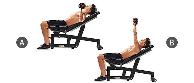 Dumbbell Incline Bench Press – Đẩy tạ tay trên ghế nghiêng – Tập ngực trên