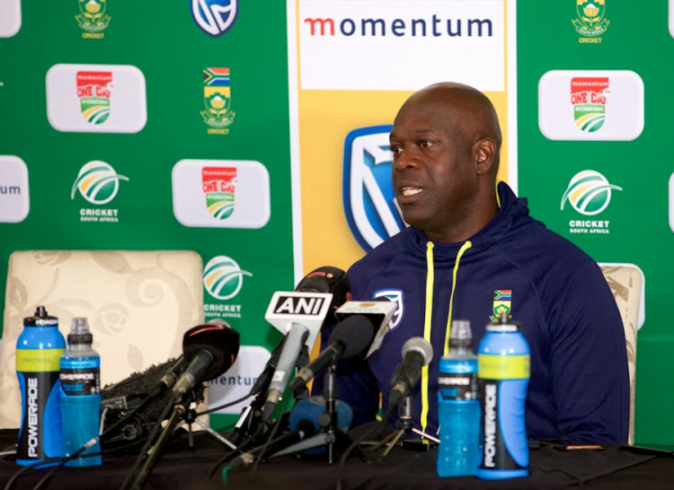 Ottis Gibson, Head Coach, of South Africa during the 5th Momentum ODI match between South Africa and India at St Georges Park on February 13, 2018 in Port Elizabeth, South Africa.