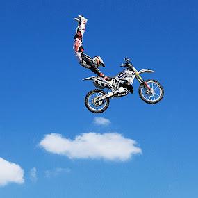 freefall by O J - Transportation Motorcycles ( bike, uae, motorcross, stunt, moto x, dxb )
