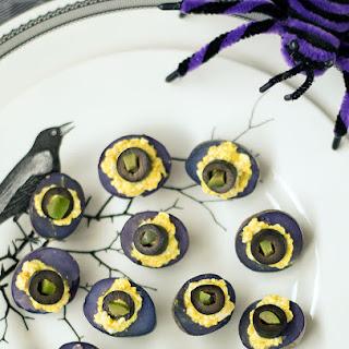 Vegan Deviled Purple Potatoes for Halloween