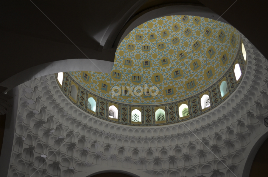 Bukhary Mosque - Interior by Azzah Rahman - Buildings & Architecture Places of Worship ( masjid, kedah, mosque, bukhary, malaysia )