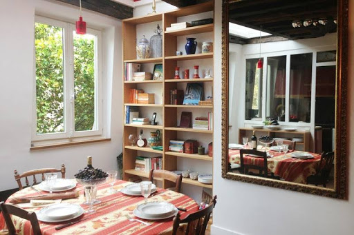 Dining space at Latin Quarter apartment