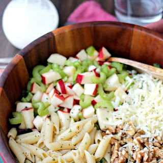 Apples and Celery Pasta Salad with Light Caesar Dressing