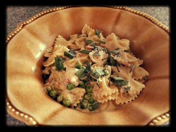 Pasta With Bacon Peas And Sage Recipe