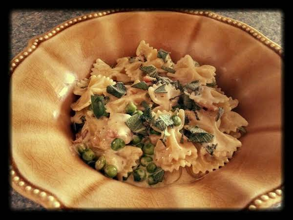 Pasta With Bacon Peas And Sage