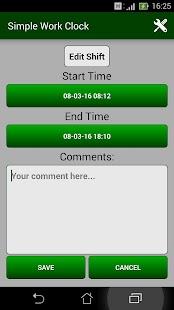 Simple Work Clock Screenshot