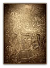 """Photo: Antonio Berni Taco para """"Juanito bañándose"""" 1961 ca. 162 x 117 cm. Madera y metal. Colección particular, Buenos Aires. Expo: Antonio Berni. Juanito y Ramona (MALBA 2014-2015)"""