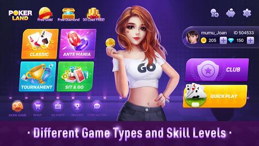 Poker Land - Free Texas Holdem Online Card Game  screenshots 2