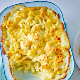 Macaroni Cauliflower Cheese.
