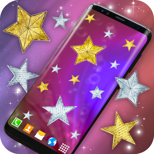 Gold and Silver Stars Magic Touch on Screen