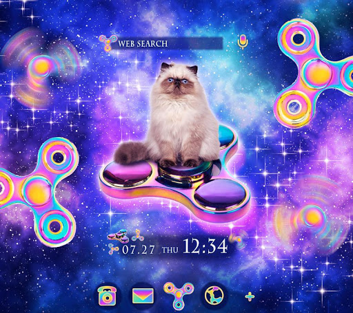 Cool Wallpaper Space Cat & Spinners Theme 1.0.0 Windows u7528 1