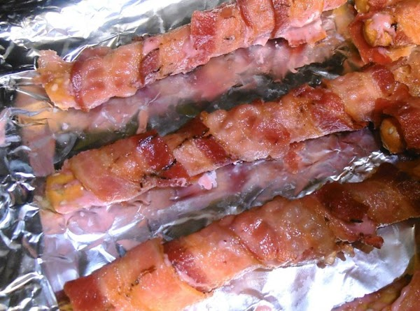 bake bacon wrapped bread sticks in a 350 degree oven for 5 minutes or...