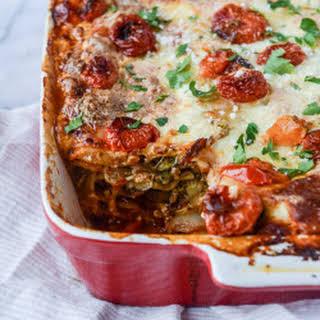 Roasted Vegetable Lasagna with Burrata.
