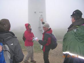 Photo: parc éolien de Woelfling dans le brouillard, le matin
