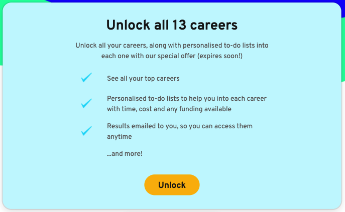 Our improved unlock card which doubled clicks
