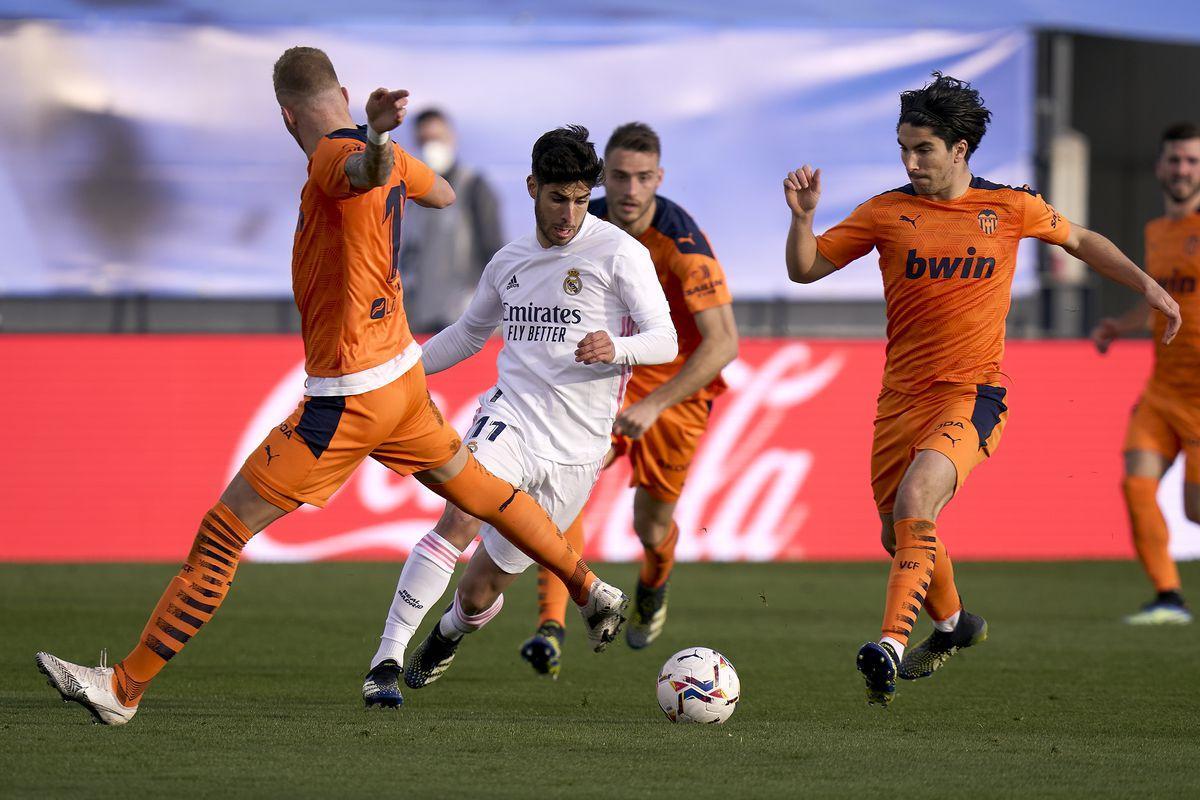 Valencia đã thất bại 0-2 trước Real Madrid ở lần đối đầu gần nhất