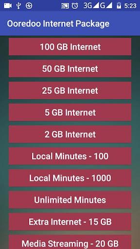 Download Ooredoo Internet Package Google Play softwares