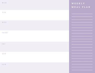 Purple Planner - Planner Template